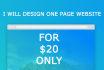 design a onepage website in html or wordpress