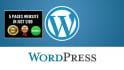 create professional WordPress website for you