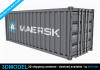 create a 3d model shipping container