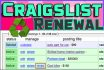 renew your Craigslist ad