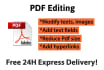 edit and modify anything in a Pdf file
