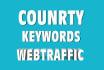 promote website, keywords,country target, visitors,