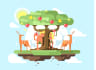 design awesome game in flat style