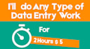 do Any Type of Data Entry Work for 2 Hours
