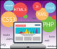 write, debug, fix PHP, html, css, javascript, jquery for you