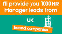 provide 1000 hr manager leads from uk based companies