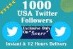 add 1000 real USA Good Quality Twitter Followers