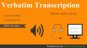 do accurate 20 min transcription of audio or video