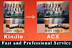 convert Kindle to Audiobook cover for ACX in 24hrs