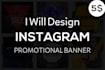design Instagram Promotional Banner that standout