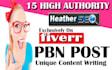 15 Permanent Unique PBN Backlinks Post Trust Flow 25