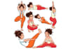 do professional exercise and fitness illustrations