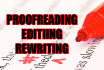 proofread and edit your English documents