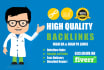 create manually permanent high quality backlinks for seo
