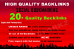 submit your url to 20 PR 9 to 5 Social Bookmarking sites with Quality Backlinks
