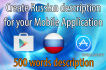 create russian description for your app in google play or appstore
