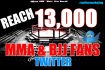 tweet Your Message to Over 13,000 Active MMA  Fans