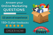 answer your Online Marketing questions