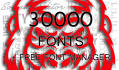 send you over 30000 fonts