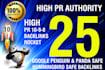 create 25 High Pr Authority Links Manually