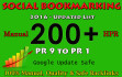 do 200 Manual Social Bookmarking Submissions PR 9 to 1