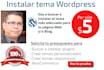buscar e instalar un tema para Wordpress