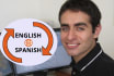 translate 500 words in English and Spanish