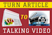 convert Article or Text To Amazing HD Video