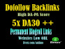 give you permanent doffolow blogroll 5site DA 30 plus