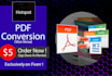 convert PDF Files to Other Formats Perfectly