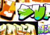 design your name in graffiti font with color fill