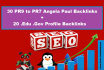 do 30 pr9 to pr7 Angela Paul plus 20 Edu Gov Profile backlinks