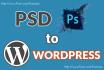 design PSD to WordPress Theme, WordPress template, WordPress website