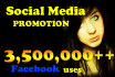 promote your links to 3,500,000 FB users