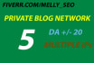 post 5 articles to website with domain authority 15 to 20