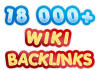 create 18000 contextual WIKI backlinks from over 5000 unique domains and ping