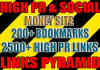 make powerful link PYRAMID with 200 social bookmarks as safe first layer and over 2500 high pr blast to energize them | Bulk urls / keys ok