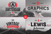 create an awesome Vintage or Retro style logo