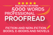 proofread and edit up to 5000 words within 24 hours