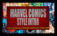 create this marvel comics style intro