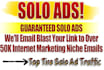 blast solo ad 100 percent top tier countries clicks and 40 to 50 percent optins