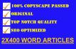 write 2x400 killer, optimized articles