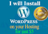 install WordPress on your Hosting Account in less than 24 hours