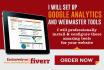 set up google analytics and webmaster tools