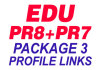 create 10 Profiles Manually From 2PR8 and 8PR7 AUTHORITATIVE Edu Sites