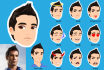 draw cute cartoon avatar and funny emojis from your photo
