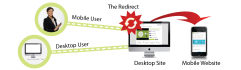 set redirection to your website