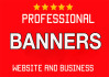 create banners within few hours