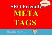 write Rank Booster Meta Tags for your website