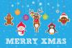 design cute Christmas card or holiday card